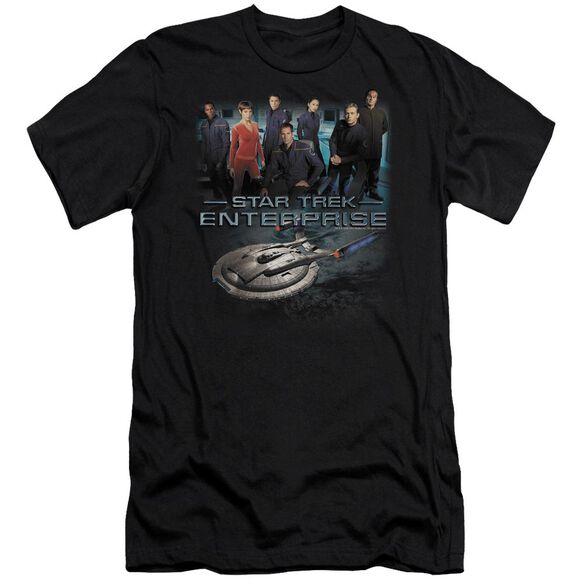 STAR TREK ENTERPRISE CREW - S/S ADULT 30/1 - BLACK T-Shirt