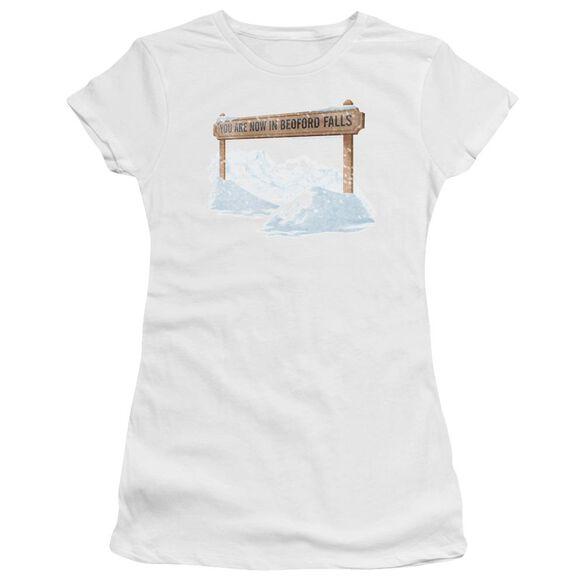 Its A Wonderful Life Bedford Falls Premium Bella Junior Sheer Jersey