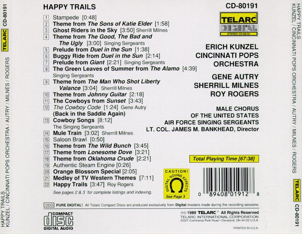 Happy Trails by Erich Kunzel/The Cincinnati Pops Orchestra - New on ...