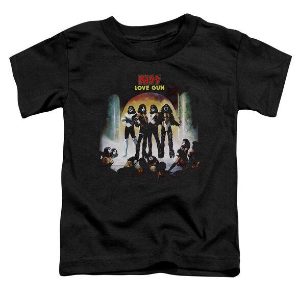 Kiss Lover Gun Cover Short Sleeve Toddler Tee Black T-Shirt