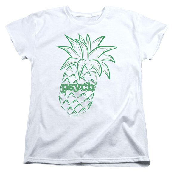 Psych Pineapple Short Sleeve Womens Tee T-Shirt