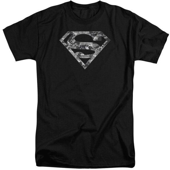 Superman Urban Camo Shield Short Sleeve Adult Tall T-Shirt