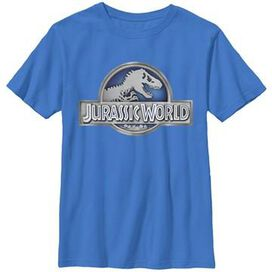 Jurassic World Metal Logo Youth T-Shirt