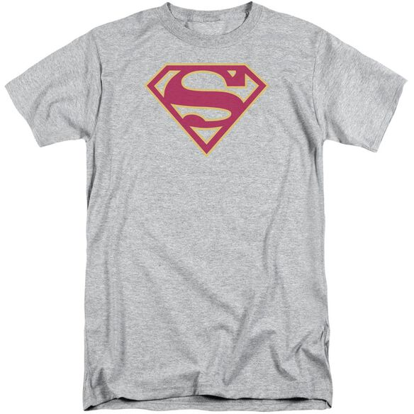 Superman Red & Gold Shield Short Sleeve Adult Tall Athletic T-Shirt
