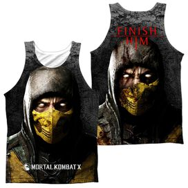 Mortal Kombat X Finish Him (Front Back Print) Adult 100% Poly Tank Top