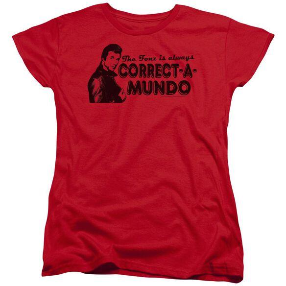 Happy Days Correct A Mundo Short Sleeve Womens Tee T-Shirt