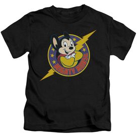 Mighty Mouse Mighty Hero Short Sleeve Juvenile Black T-Shirt