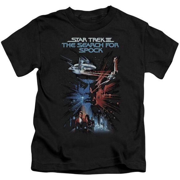 Star Trek Search For Spock(Movie) Short Sleeve Juvenile Black T-Shirt