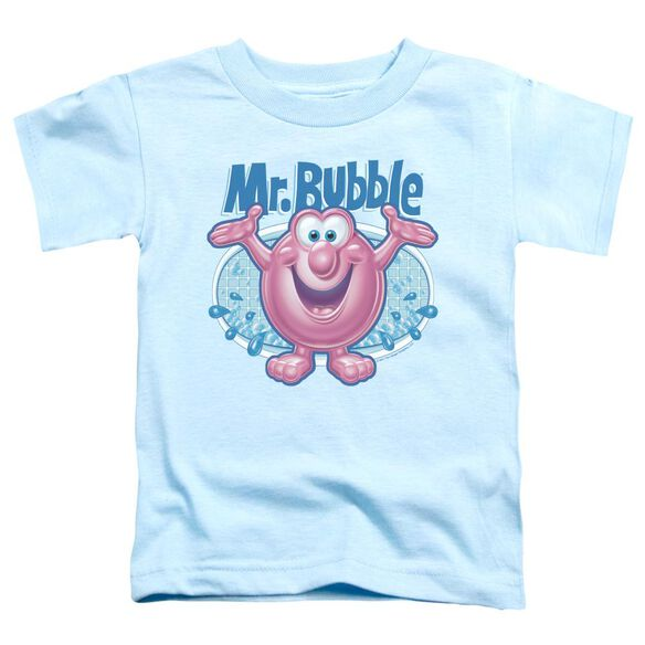 Mr Bubble Overflowing Short Sleeve Toddler Tee Light Blue T-Shirt