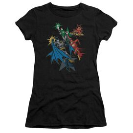 Jla Action Stars Short Sleeve Junior Sheer T-Shirt