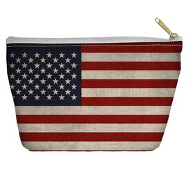 Old American Flag Accessory Pouch