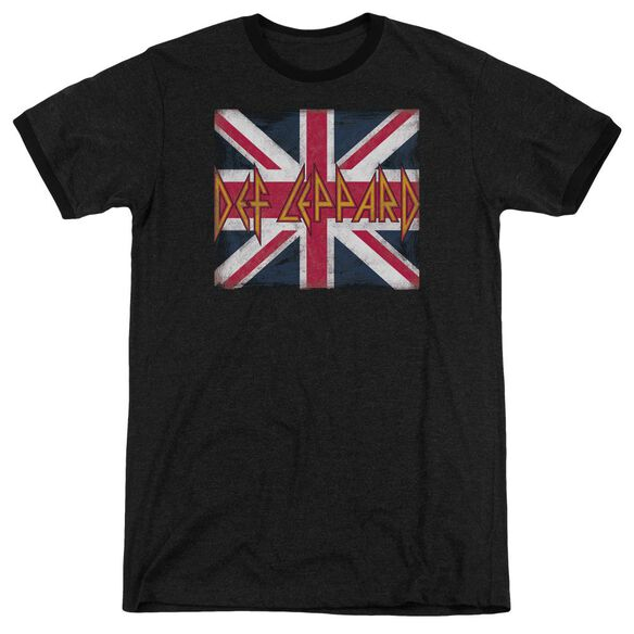 Def Leppard Union Jack Adult Heather Ringer