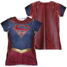 Supergirl Supergirl Uniform (Front Back Print) Short Sleeve Junior Poly Crew T-Shirt