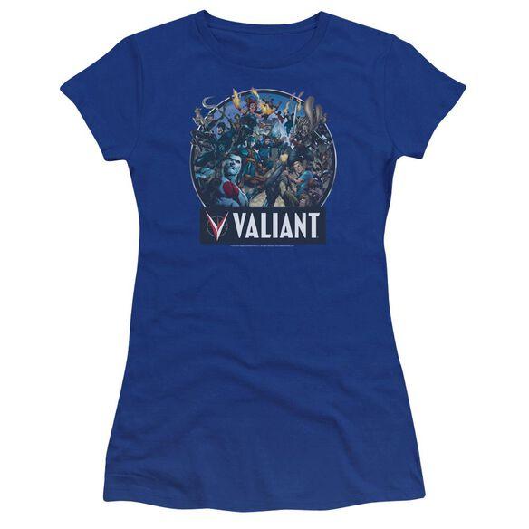 Valiant Ready For Action Premium Bella Junior Sheer Jersey Royal