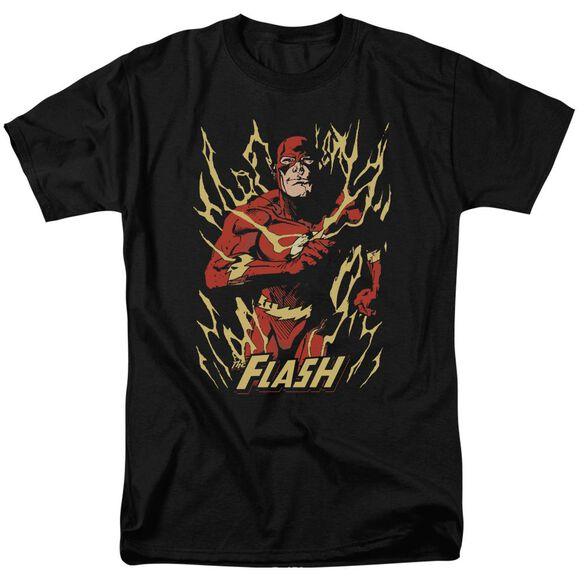 Jla Flash Flare Short Sleeve Adult T-Shirt