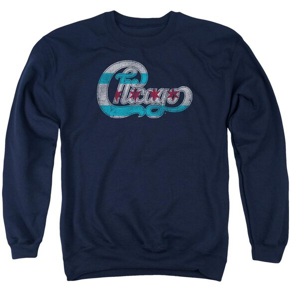 Chicago Flag Logo Adult Crewneck Sweatshirt