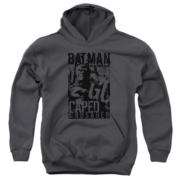 Batman Caped Crusader Youth Pull Over Hoodie