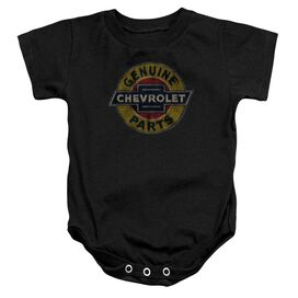Chevrolet Genuine Chevy Parts Distressed Sign Infant Snapsuit Black