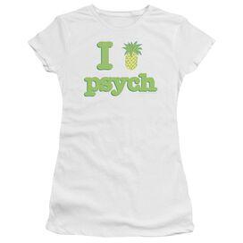 Psych I Like Psych Short Sleeve Junior Sheer T-Shirt