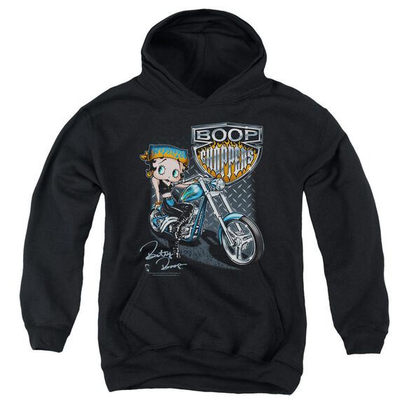 Betty Boop Choppers Youth Pull Over Hoodie