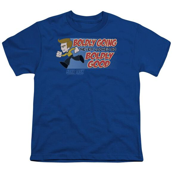 Quogs Boldly Good Short Sleeve Youth Royal T-Shirt