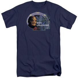 Sg1 Not Laughing Short Sleeve Adult Tall T-Shirt