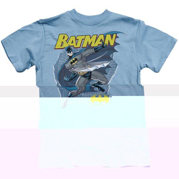 Batman Taste The Metal Short Sleeve Juvenile Carolina Blue T-Shirt
