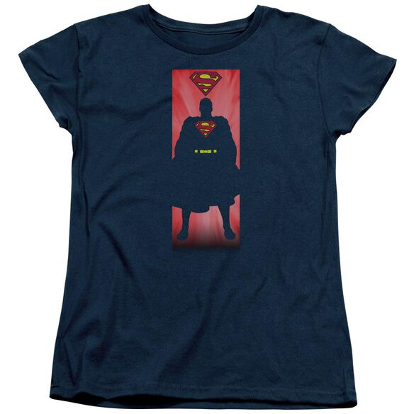 Superman Block Short Sleeve Womens Tee T-Shirt