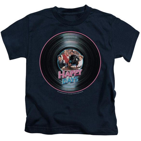 Happy Days On The Record Short Sleeve Juvenile Navy T-Shirt