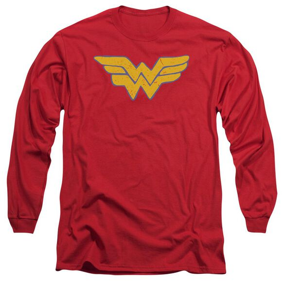 Jla Rough Wonder Long Sleeve Adult T-Shirt