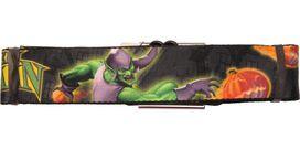 Green Goblin Pumpkin Toss Seatbelt Belt