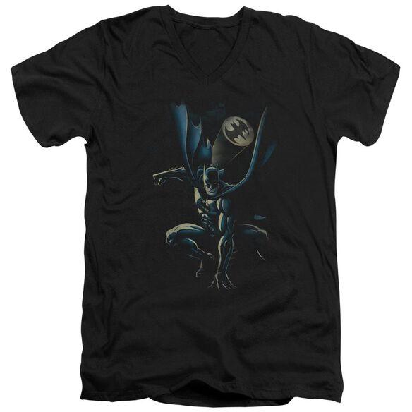Batman Calling All Bats Short Sleeve Adult V Neck T-Shirt