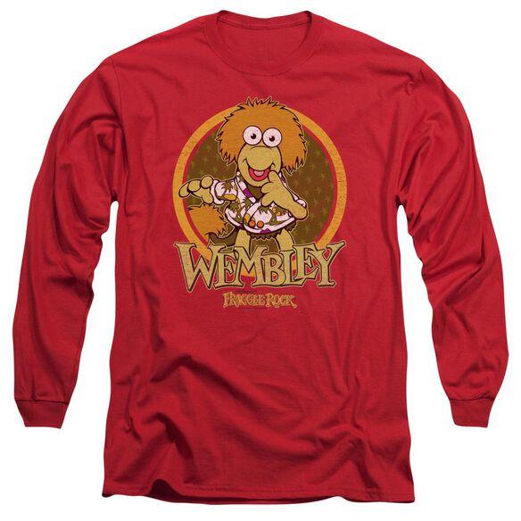 Fraggle Rock Wembley Circle Long Sleeve Adult T-Shirt