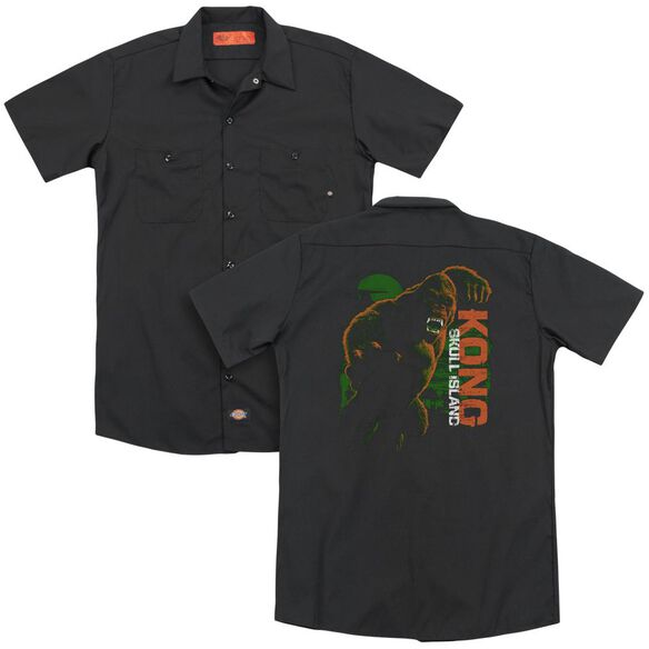 Kong Skull Island Attack Mode (Back Print) Adult Work Shirt