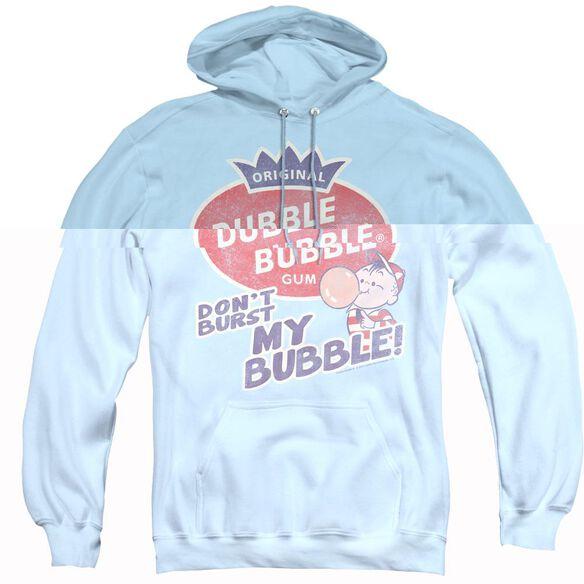 Dubble Bubble Burst Bubble - Adult Pull-over Hoodie - Light Blue
