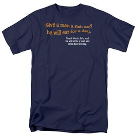 Give A Man A Fish Short Sleeve Adult T-Shirt