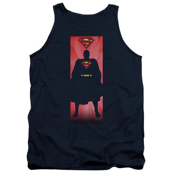 Superman Block Adult Tank