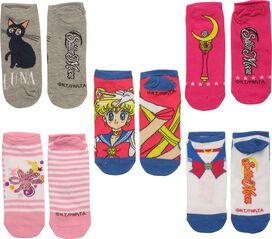 Sailor Moon Mixed Ladies 5 Pair Low Cut Socks Set