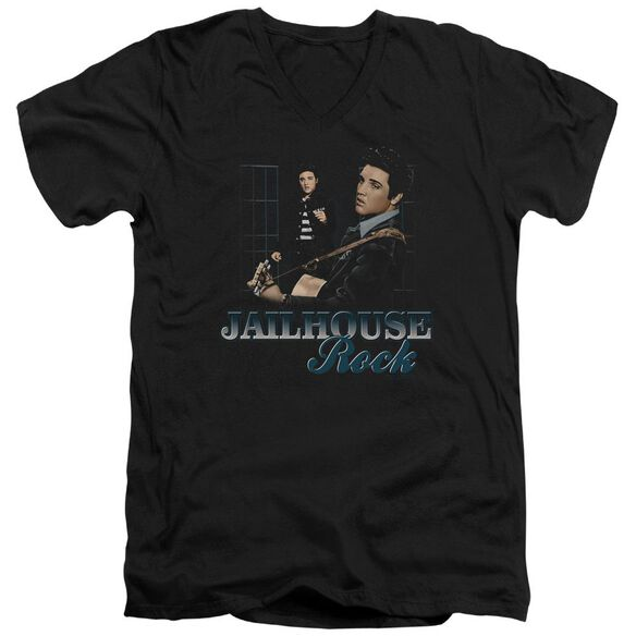 Elvis Jailhouse Rock Short Sleeve Adult V Neck T-Shirt