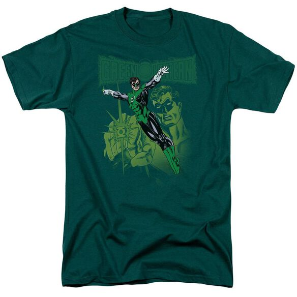 Green Lantern Gl#166 Cover Short Sleeve Adult Hunter Green T-Shirt