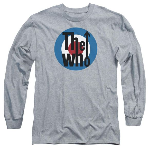 The Who Logo Long Sleeve Adult Athletic T-Shirt