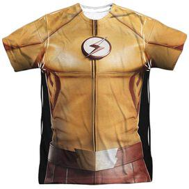 Flash Kid Flash Uniform Short Sleeve Adult Poly Crew T-Shirt