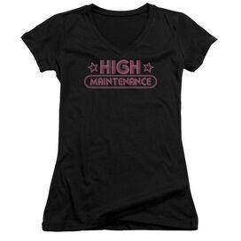 High Maintenance Junior V Neck T-Shirt