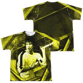 Bruce Lee Stripes Short Sleeve Youth Poly Crew T-Shirt