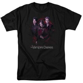 Vampire Diaries Company Of Three Short Sleeve Adult T-Shirt