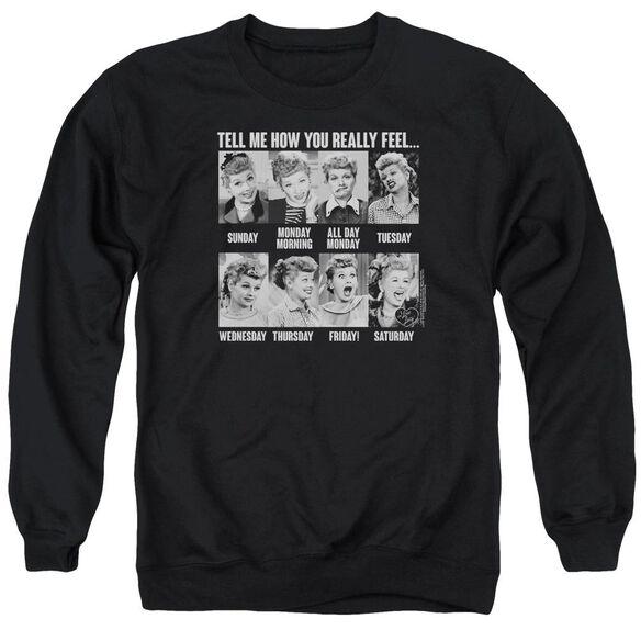 I Love Lucy 8 Days A Week Adult Crewneck Sweatshirt