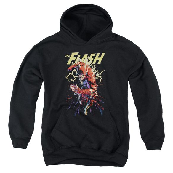 Jla Ripping Apart Youth Pull Over Hoodie