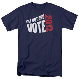Get Out And Vote Short Sleeve Adult Navy T-Shirt