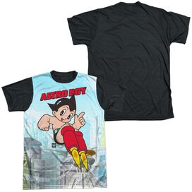 Astro Boy City Boy Short Sleeve Adult Front Black Back T-Shirt