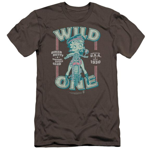 Betty Boop Wild One Premuim Canvas Adult Slim Fit